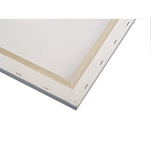 RAYHER 6158700 Keilrahmen, 100% Baumwolle, 330 g/m², 40 x 50 x 1,7 cm