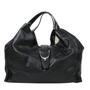 Gucci Women's Stirrup Black Calf Leather Large Hobo Bag 100 Handbag 296855 1000 41