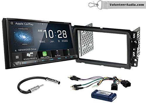 Kenwood DMX9707S Double Din Radio Install Kit With Apple CarPlay, USB/AUX, Built-In 13 Band Equalizer Fits 2013-2014 Buick Enclave, 2013-2014 Chevrolet Traverse (Standard Bose)