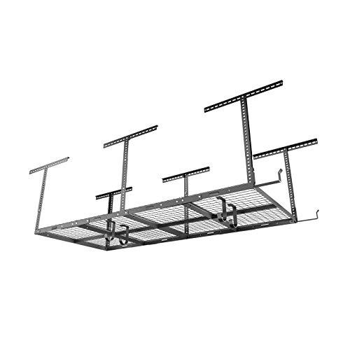 FLEXIMOUNTS 4x8 Overhead Garage Storage Rack with Hooks...