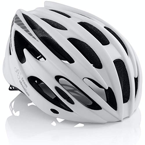 Premium Quality Airflow Bike Helmet Specialized for Road & Mountain Biking - Safety Certified Bicycle Helmets for Adult Men & Women, Teen Boys & Girls – Comfortable , Lightweight , Breathable (Matte White, M/L)
