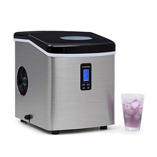 Klarstein Mr. Black-Frost - Macchina cubetti del ghiaccio, 15 kg / 24 h, 150 Watt, 3 dimensioni...