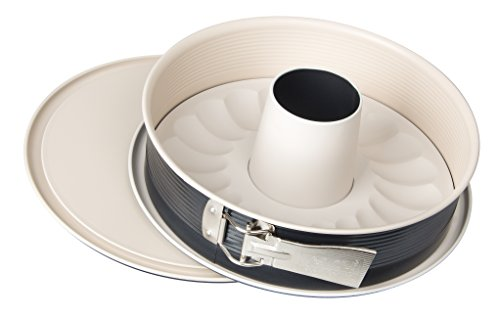 Zenker 7811 Springform Crème Noir mit 2 Böden, Durchmesser 26 cm, Edelstahl, grau / beige, 16 x 16 x 7 cm