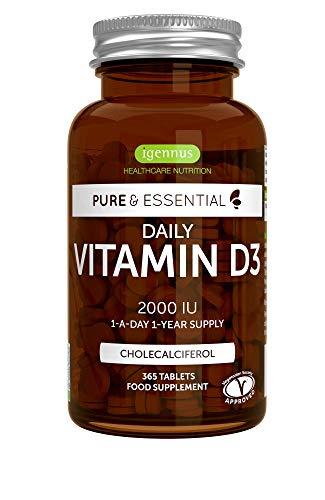Pure & Essential Vitamina D3 Cotidiana, colecalciferol 2000...