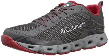 Columbia Men's Drainmaker Iv Water Shoe, City Grey, Mountain red, 11