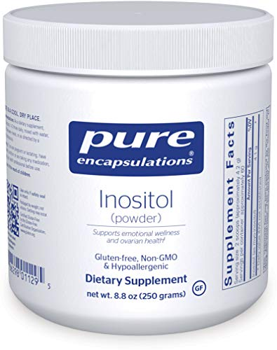 Pure Encapsulations - Inositol (Powder) - Hypoallergenic Supplement Supports Healthy Mood, Emotional Wellness and Behavior, and Ovarian Function - 8.8 Ounces 1