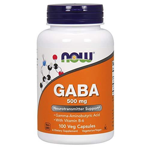 Now Foods, GABA, 500 mg, 100 vegane Kapseln, glutenfrei, sojafrei