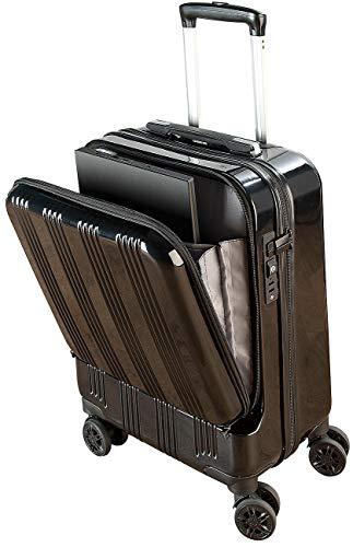 Xcase Koffer mit Powerbank: Handgepäck-Trolley mit Laptop-Fach, Powerbank-Anschluss, TSA, 30 l (Koffer mit USB Anschluss)