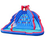 Deluxe Inflatable Water Slide Park – Heavy-Duty Nylon Bouncy Station...