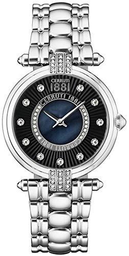 CERRUTI Damen Analog Quarz Smart Watch Armbanduhr mit Edelstahl Armband CRM140SN02MS