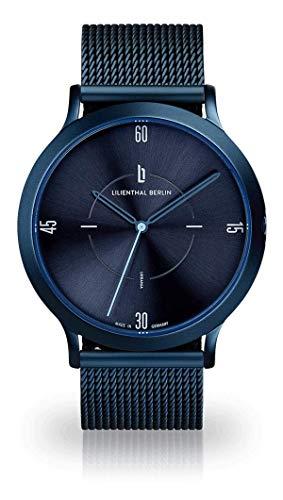 Lilienthal Berlin Urbania Unisex Armbanduhr (Gehäuse: blau/Zifferblatt: blau/Armband: mesh blau)