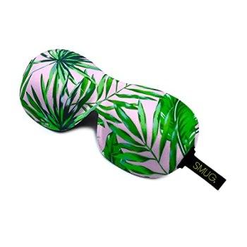 SMUG Eyelash Friendly Contoured 3D Blackout Beauty Sleep Mask / Eye Mask, Palm Tree Print