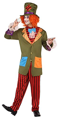 Atosa-38654 Disfraz Sombrerero Loco, Multicolor, M-L (38654)