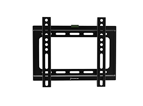 GForce Fixed TV Wall Mount - Super Flat, Fits Most 17' - 24' Inch LED, LCD and Plasma TVs - VESA Compatible - 25Kg/55LBS Weight Capacity - Black