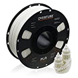 OVERTURE PLA Filament 1.75mm 3D Printer Consumables, 1kg Spool (2.2lbs), Dimensional Accuracy +/- 0.05 mm, Fit Most FDM Printer(White 1-Pack)