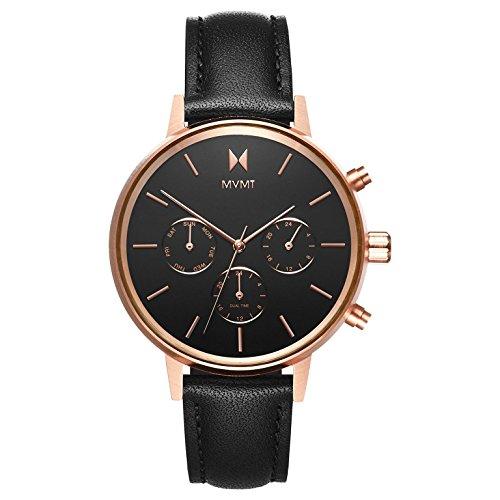 MVMT Damen Multi Zifferblatt Quarz Uhr mit Lederarmband D-FC01-RGBL