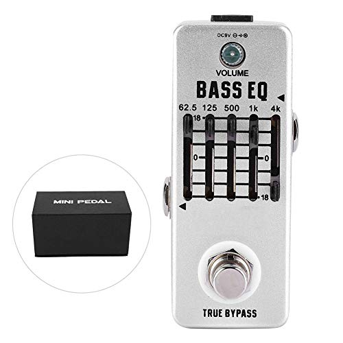 Bnineteenteam Guitar Equalizer Effect Pedal,Bass Balance Analog Echo 5-Band EQ True Bypass for Electric Bass
