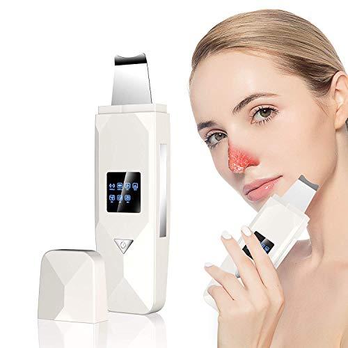 Haut Scrubber, doedoeflu Ultraschall skin scrubber Mitesserentferner, 3 in 1 Elektrischer Ultraschall peelinggeraet Instrument Gesichtsreiniger Porenreiniger Akne Dead Skin Entferner Tiefenreinigung