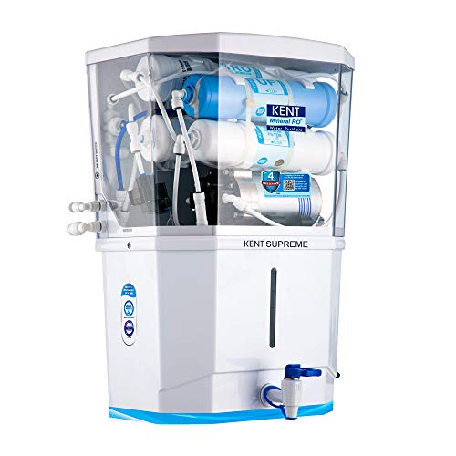 KENT Supreme 2020 (11111), Wall Mountable, RO + UF + TDS Control + UV in Tank, 8 L Tank, White, 20 LPH Water Purifier