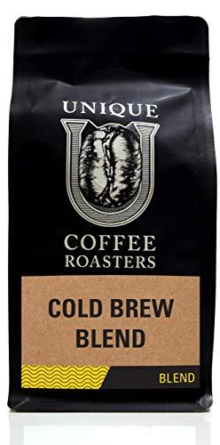 Cold Brew Blend Whole Bean Coffee - Unique Coffee Roasters - 16 oz - 1 LB Bag