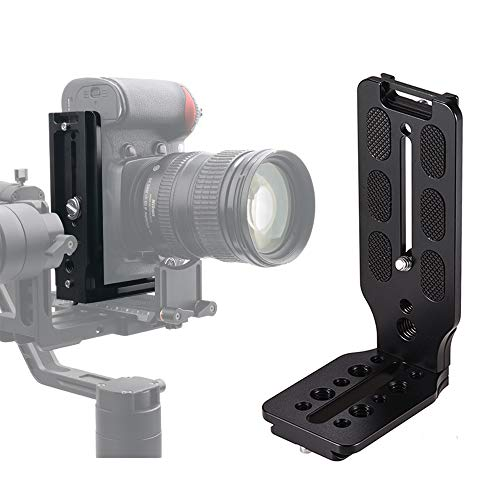 DSLR Camera L Bracket Quick Release Plate Vertical Video Shooting Universal L Bracket with 1/4 Inch Screw Arca Swiss for Manfrotto DJI Osmo Ronin Zhiyun Canon Nikon Sony DSLR Camera by WEIHE