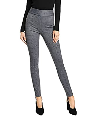 Cotton Spandex Rayon Nylon and Polyester.Stretchy material provides you with a high quality soft, lightweight, and comfortable wear High waist pants, stretchy soft leggings, wide bandwaist, ankle length, comfy Suitable for wearing for daily and work ...