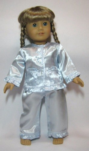 Jiminee's Doll Clothes Blue Satin Pajamas. Fit 18 Dolls Like American Girl
