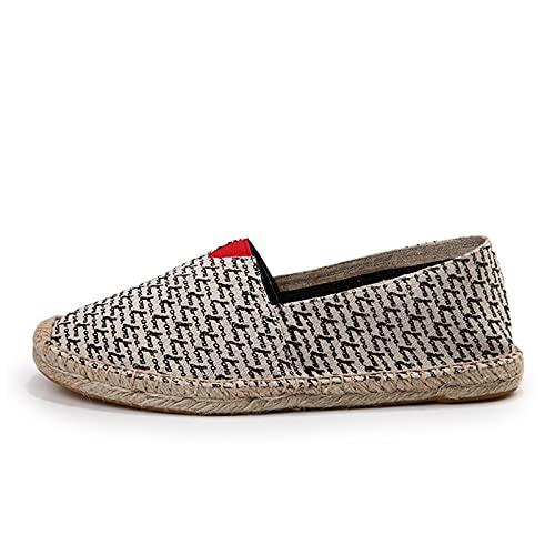 Zapatos de Pareja Alpargatas con Suela de Goma Amantes De Los Zapatos De Lino A Rayas Zapatos Perezosos Viejos Zapatos,Zapatos Casuales Planos