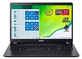 Acer Aspire 3 A315-42-R3E0 Notebook Portatile, AMD Ryzen 3 3200U, RAM 4GB DDR4, 128 GB SSD, Display da 15.6' FHD LED LCD, Scheda Grafica AMD Radeon Vega 3, Pc Portatile, Windows 10 Home S mode, Nero