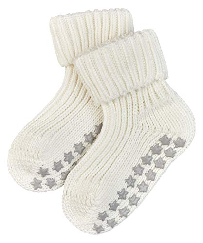 FALKE Unisex - Calzini da Bambini, Colore Bianco (Off White), Taglia 80-92 (Taglia Produttore: 12-18 Mesi)