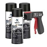 Peinture aérosol Kroma noir mat spray vernis résistante à l'essence pulvérisateur 3x 400 ml + 1x...