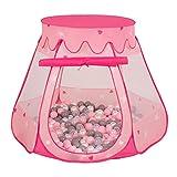 Selonis Tente 105X90cm/200 Balles Château avec Les Balles Plastiques Piscine À...