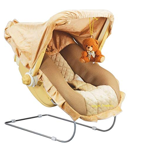 Goyal's 12 in 1 Premium Musical Baby Feeding Swing Rocker Carry Cot Cum Bouncer with Mosquito Net,...