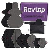 Rovtop 10PCS Ensemble de serviettes hygiéniques lavables, Protège-slips menstruels pour filles /...