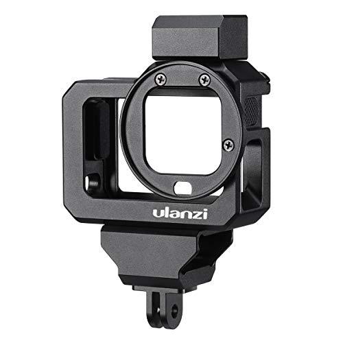 ULANZI GoPro HERO 8用 ビデオケージ ケース アルミニウム合金 保護 マイクアダプター収納 52mmフィルターアダプター付 直接充電可能 2コールドシューマウント ゴープロ8 フレームカバーハウジング