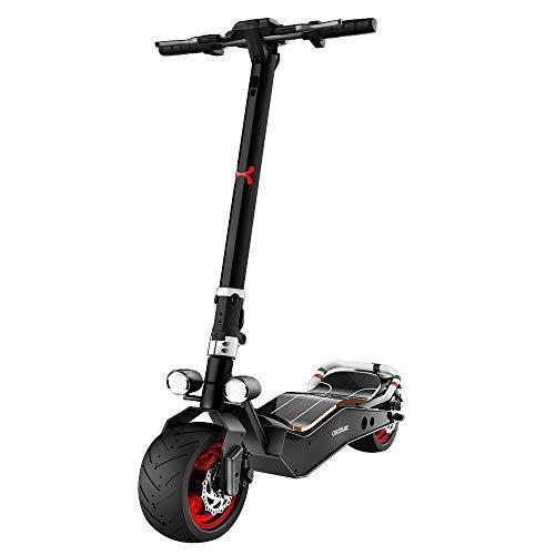 "Cecotec Patinete eléctrico Bongo Serie Z Red. Potencia máxima 1100 W, Batería extraíble, autonomía ilimitada Desde 45 km, tracción Trasera, Ruedas antirreventón de 12"""