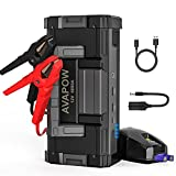 AVAPOW 6000A 32000mAh Car Battery Jump Starter(for All Gas or Upto 12L Diesel) Powerful Car Jump Starter with Dual USB Quick Charge and DC Output,12V Jump Pack with Built-in LED Bright Light
