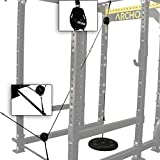 ARCHON Fitness Low Pulley Cable Station Attachment | Cable Machine | Pulley System | LAT Pull | Triceps Rope | Biceps Curl | Home Gym Equipment | Workout Accessories | Cable Machine Attachments