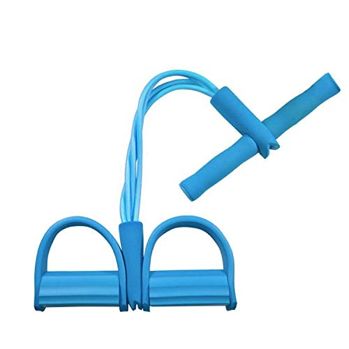 AMEEHA 4 Tube Resistance Exerciser Foot Pedal Pull Rope Tummy Trimmer Waist Trimmer-Abs Exerciser-Body Toner-Fat Buster- Multipurpose Fitness Equipment for Men and Women (Multicolor)