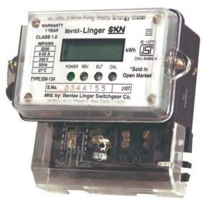 SM Enterprices Digital LED Sub meter Single Phase 2 Wire Electrical Energy KWH Meter