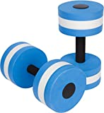 Trademark Innovations Aquatic Exercise Dumbells - Set of 2 - for Water Aerobics, Blue (BARBLS-WTR)