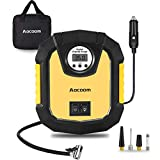 Aocoom Portable Air Compressor 12V DC Electric Auto Tire Inflator Car Air Pump with Digital Pressure Gauge and LED Light for Car, Bicycle, Automobile and Other Inflatables