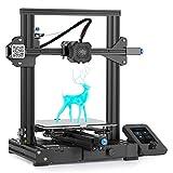 Imprimante 3D Creality Ender 3 V2 (Ender 3 Pro amélioré) avec Carte mère silencieuse 32 Bits, Alimentation Meanwell, Plate-Forme en Verre au carborundum et Impression de CV 220x220x250mm