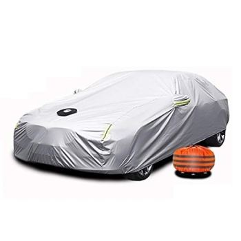 Car Cover Compatible with Rolls-Royce Cullinan Wraith Sweptail Ghost Dawn Phantomr Waterproof Sunscreen Suction Cup Style Full Car Cover (Color : Silver, Size : Phantomr)
