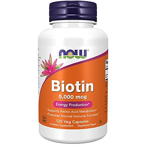 Now Foods, Biotin, 5000 mcg, 120 Vcaps