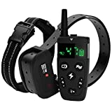 TBI Pro Dog Training Collar with Remote - Shock Collar for Dogs Range 1600 feet, Vibration Control, Rechargeable Bark E-Collar - IPX7 Waterproof for Small, Medium, Large Dogs, All Breeds
