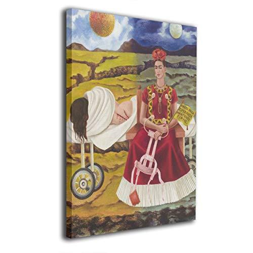 Pintura C Frida Kahlo Mexicana Folk Arte de Pared Pinturas Arte sin Marco Listo para Colgar para decoración del hogar decoración de Pared 16 x 20 Pulgadas, Madera, Blanco, Talla única