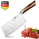 Meat Cleaver,7 inch Vegetable and Butcher Knife German High Carbon Stainless Steel Kitchen Knife chef knives with Ergonomic Handle for Home, Kitchen & Restaurant