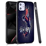 LuGeKe Cool Jump Print Hybrid Phone Case for iPhone 11 Soft TPU Frame Hard PC Back Cover for iPhone Shockproof Scratch Resistant (Football Baller)