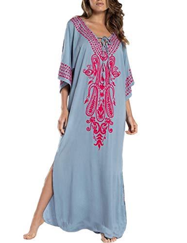 AiJump Vestido de Playa Kaftan Kimonos Pareos Bohemia Cover